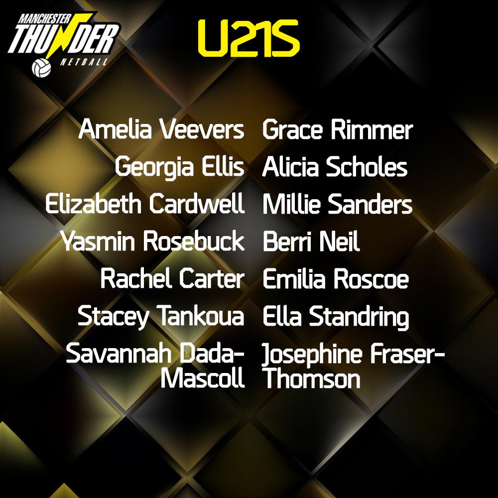 Manchester Thunder Pathway U21s 2020/21