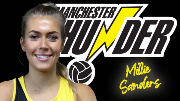 England U21s Millie Sanders steps up from training partner to a member of the Manchester Thunder first team squad for the 2022 season